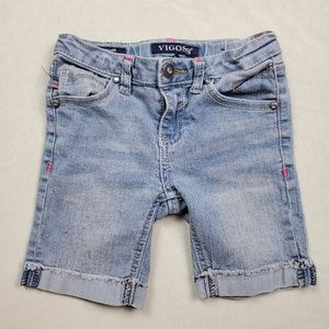 💀 Vigoss The Jagger Bermuda Jean Shorts Kids 6